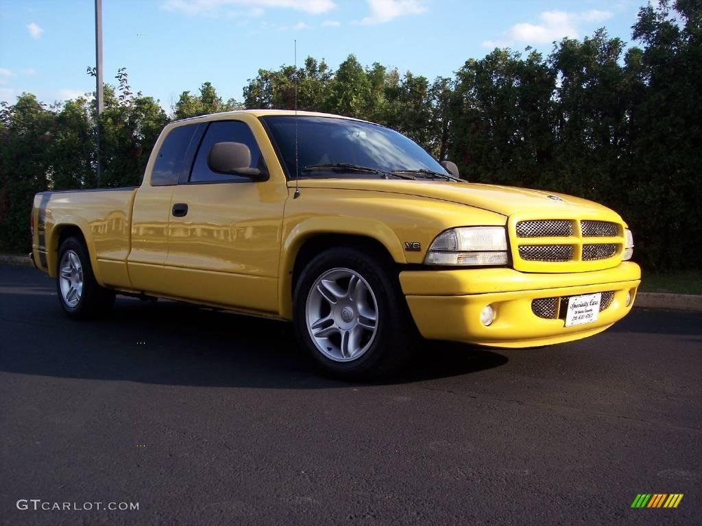 All Types dakota rt : 1999 Solar Yellow Dodge Dakota R/T Sport Extended Cab #19218302 ...
