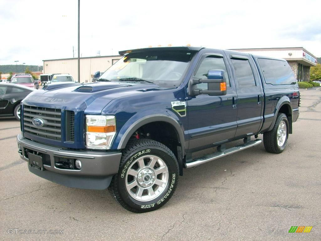 2008 dark blue pearl metallic ford f250 super duty fx4 crew cab 4x4 19211968. Black Bedroom Furniture Sets. Home Design Ideas