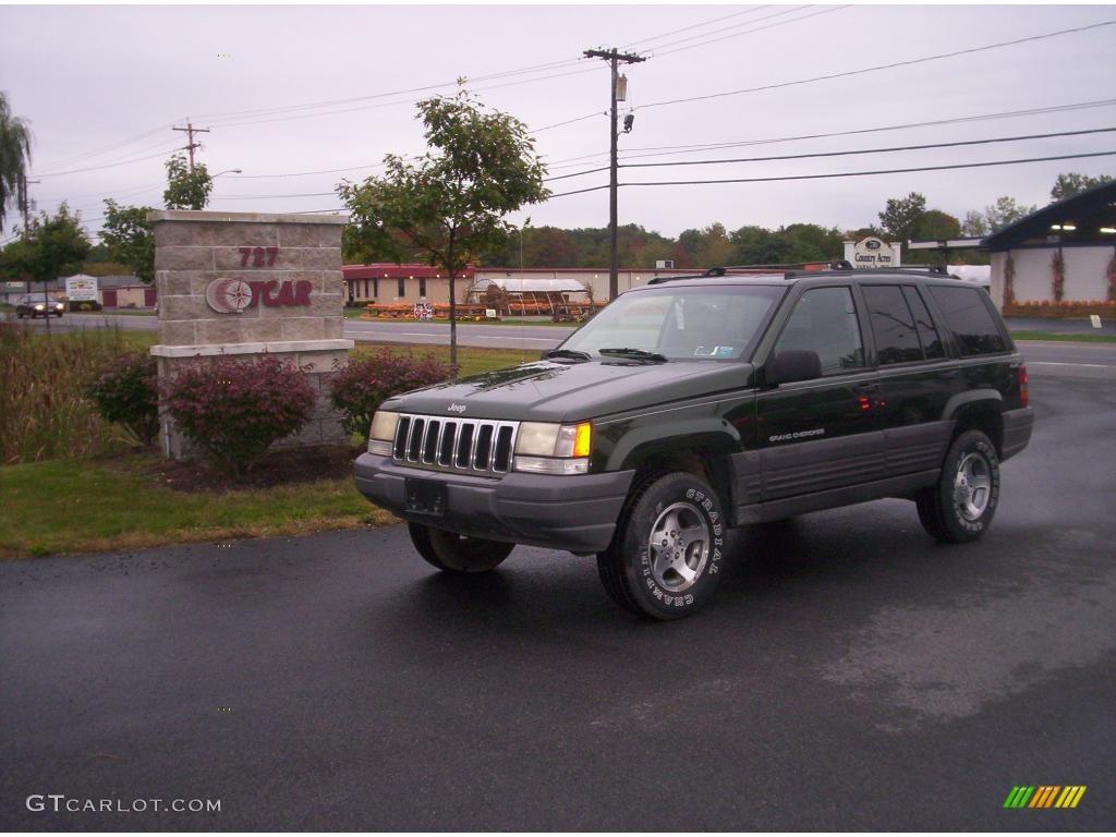 1997 moss green pearl jeep grand cherokee laredo 4x4 #19218476