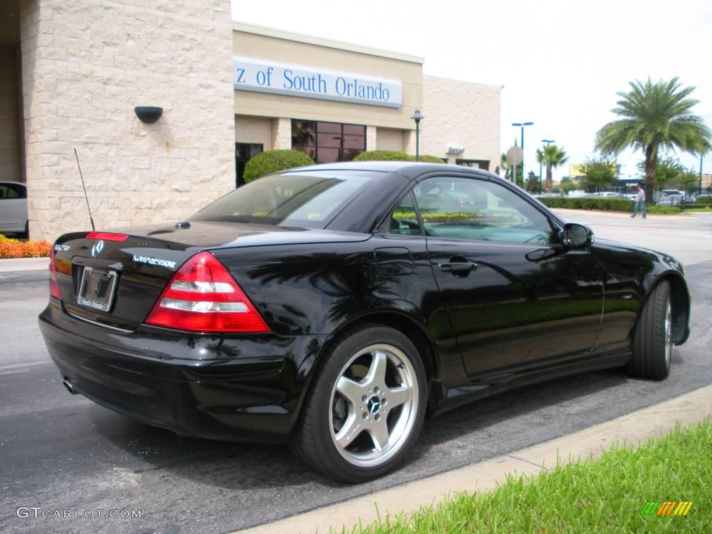 2003 black mercedes benz slk 230 kompressor roadster. Black Bedroom Furniture Sets. Home Design Ideas