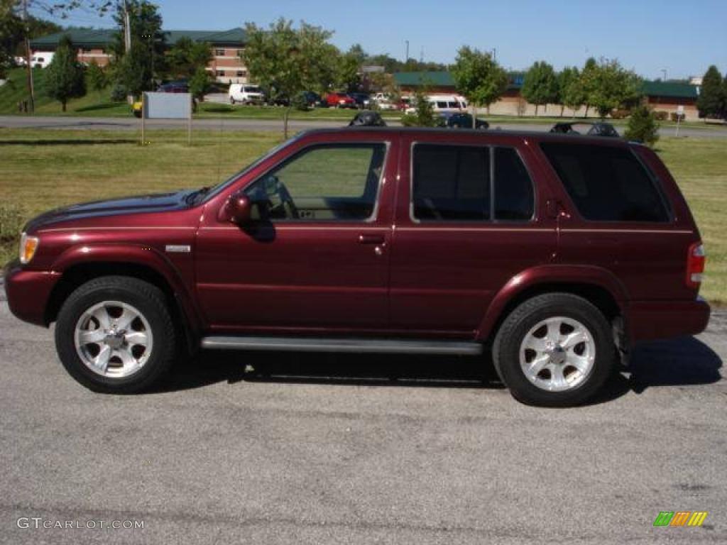 2004 merlot red pearl nissan pathfinder le platinum 4x4 19225425 photo 7 car for 2004 nissan pathfinder interior