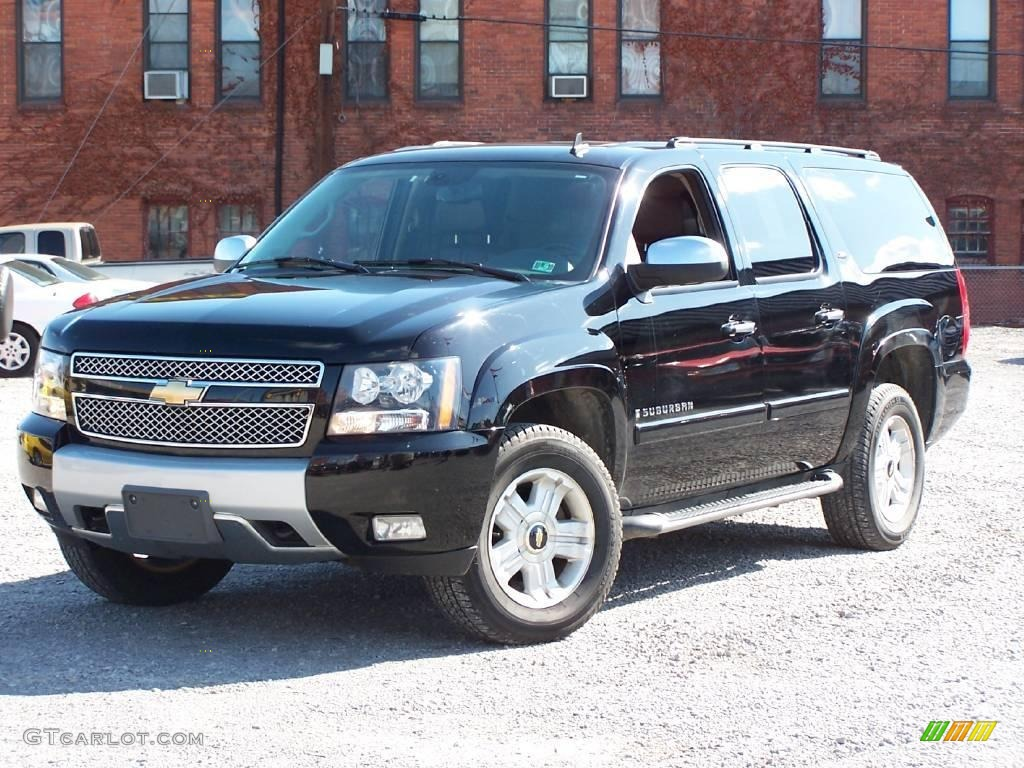 2007 black chevrolet suburban 1500 z71 4x4 19215236. Black Bedroom Furniture Sets. Home Design Ideas