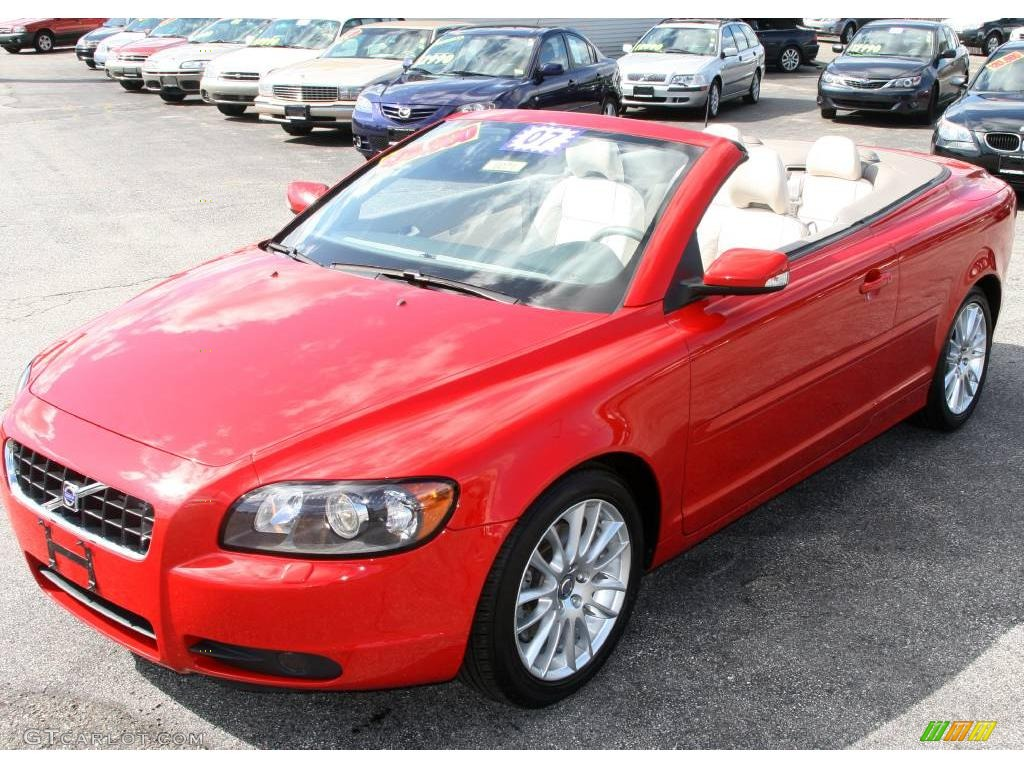 Volvo C70 Convertible >> 2007 Passion Red Volvo C70 T5 Convertible #19263029 | GTCarLot.com - Car Color Galleries
