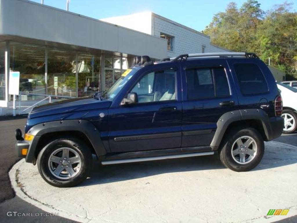 Midnight blue pearl jeep liberty