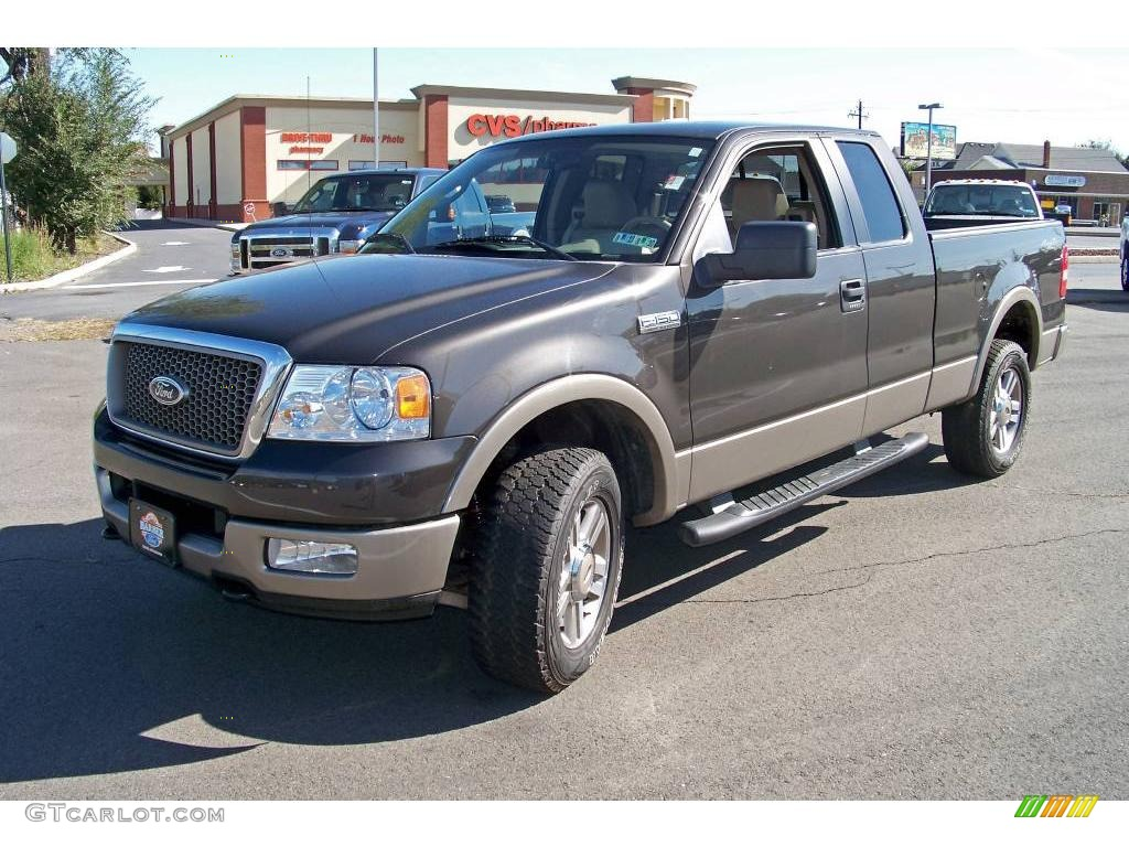 2005 ford f150 lariat supercab 4x4 dark shadow grey metallic color. Black Bedroom Furniture Sets. Home Design Ideas