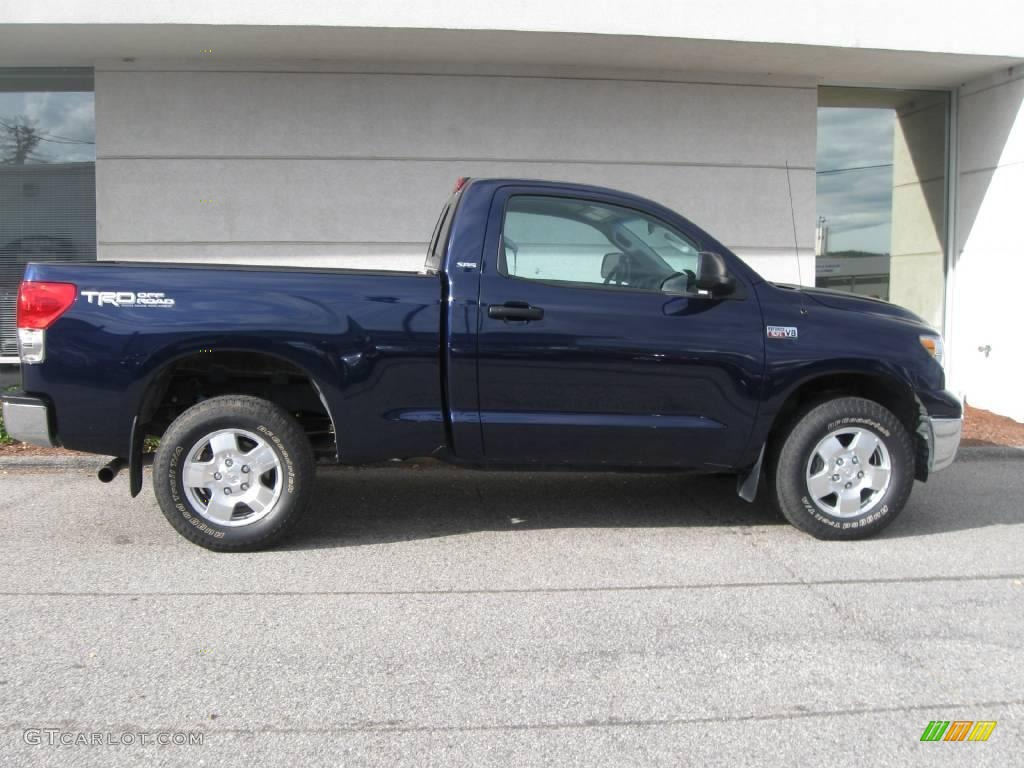 2008 nautical blue metallic toyota tundra sr5 trd regular cab 4x4 19366226 photo 2 gtcarlot. Black Bedroom Furniture Sets. Home Design Ideas
