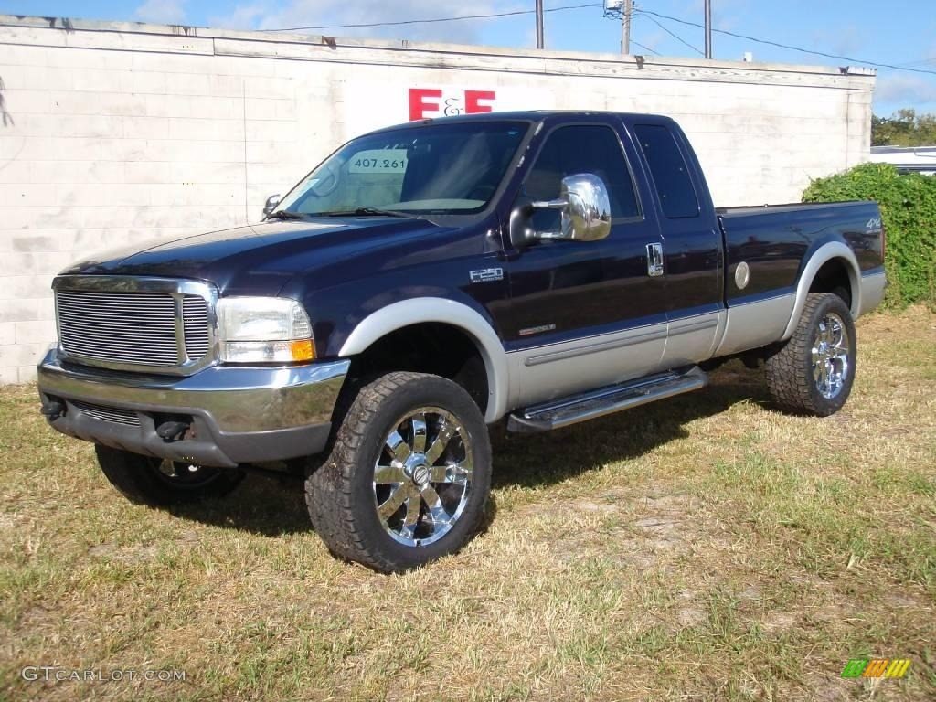 Deep wedgewood blue metallic ford f250 super duty