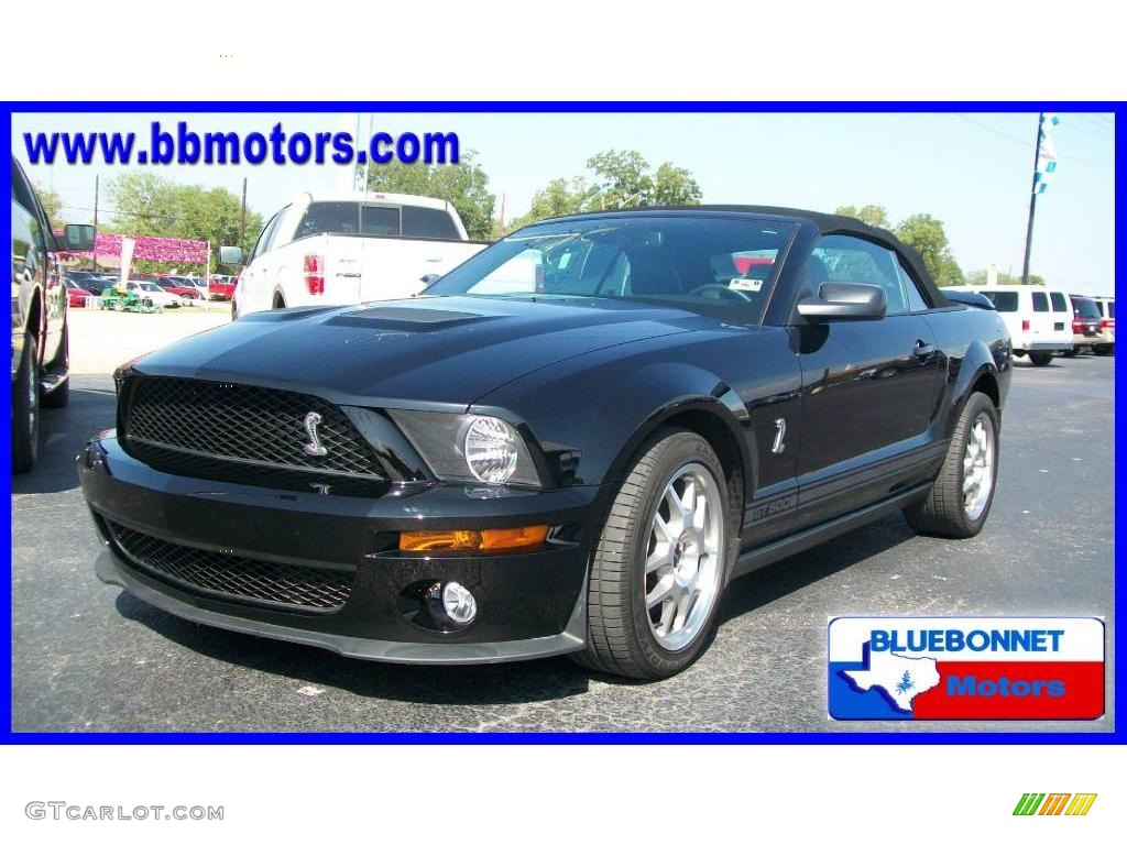 2007 Mustang Shelby GT500 Convertible - Black / Black Leather photo #1