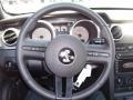 2009 Ford Mustang Dark Charcoal/Red Interior Steering Wheel Photo