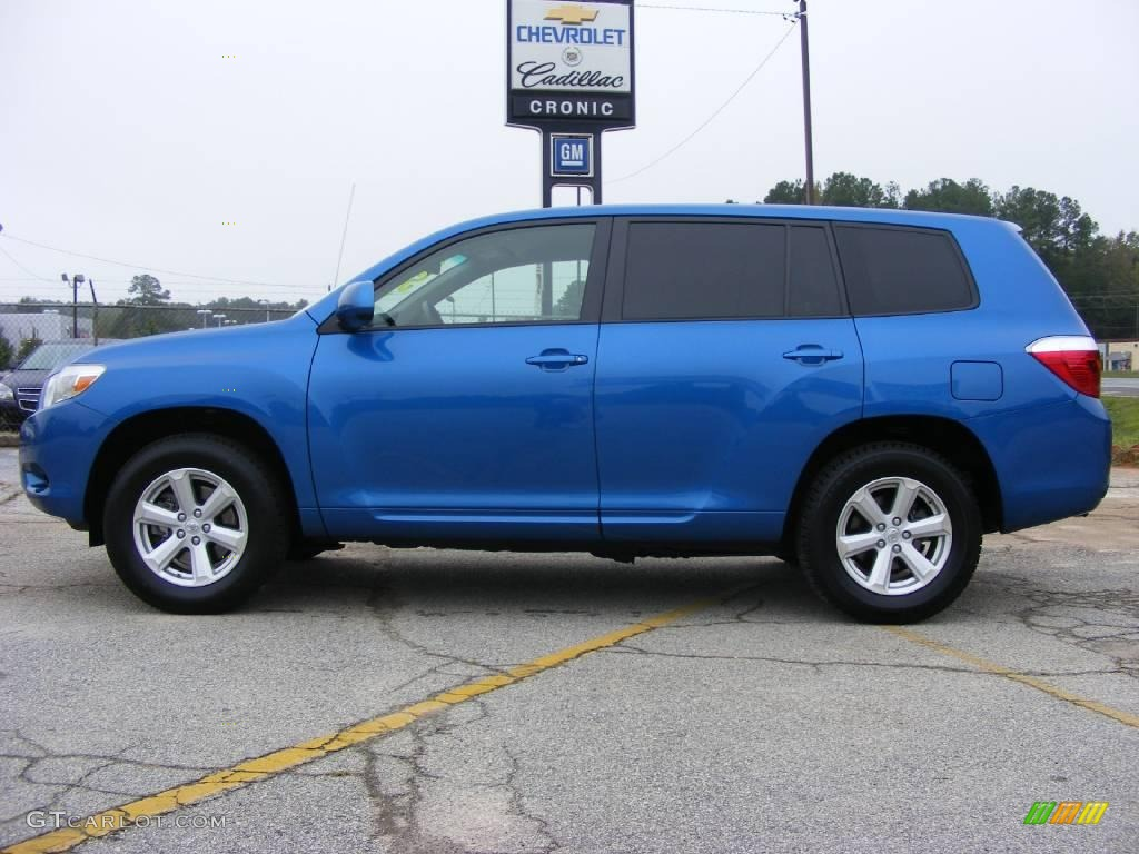 2008 Highlander  - Blue Streak Metallic / Ash Gray photo #1
