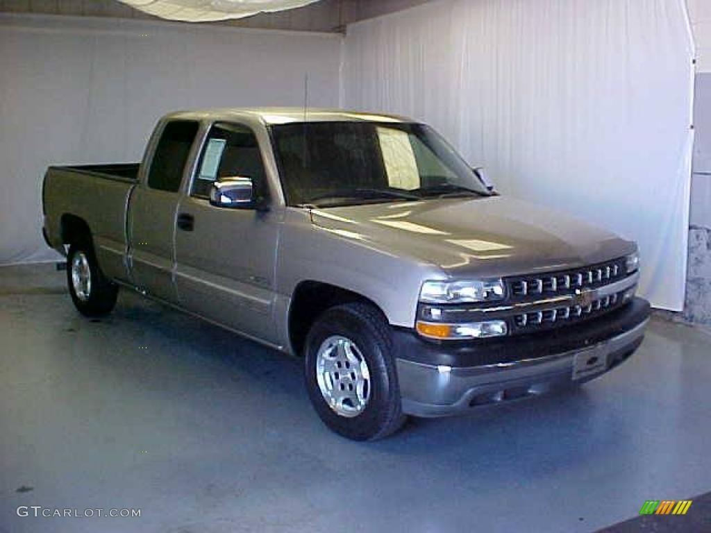 2002 Silverado 1500 Extended Cab - Light Pewter Metallic / Graphite Gray photo #1