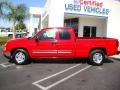2006 Victory Red Chevrolet Silverado 1500 LT Extended Cab  photo #2