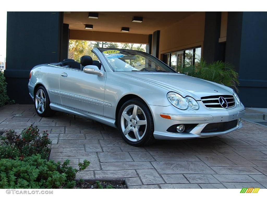 2006 diamond silver metallic mercedes benz clk 500 cabriolet 19537865 car. Black Bedroom Furniture Sets. Home Design Ideas