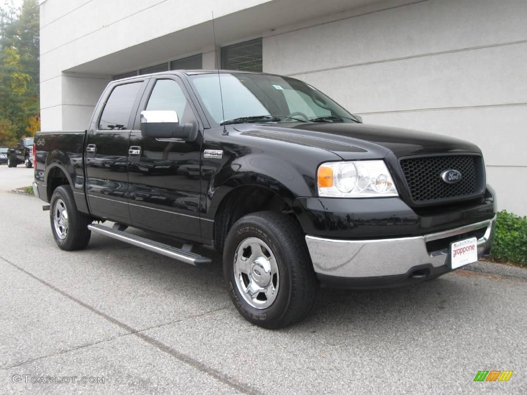 2006 black ford f150 xlt supercrew 4x4 19494215. Black Bedroom Furniture Sets. Home Design Ideas