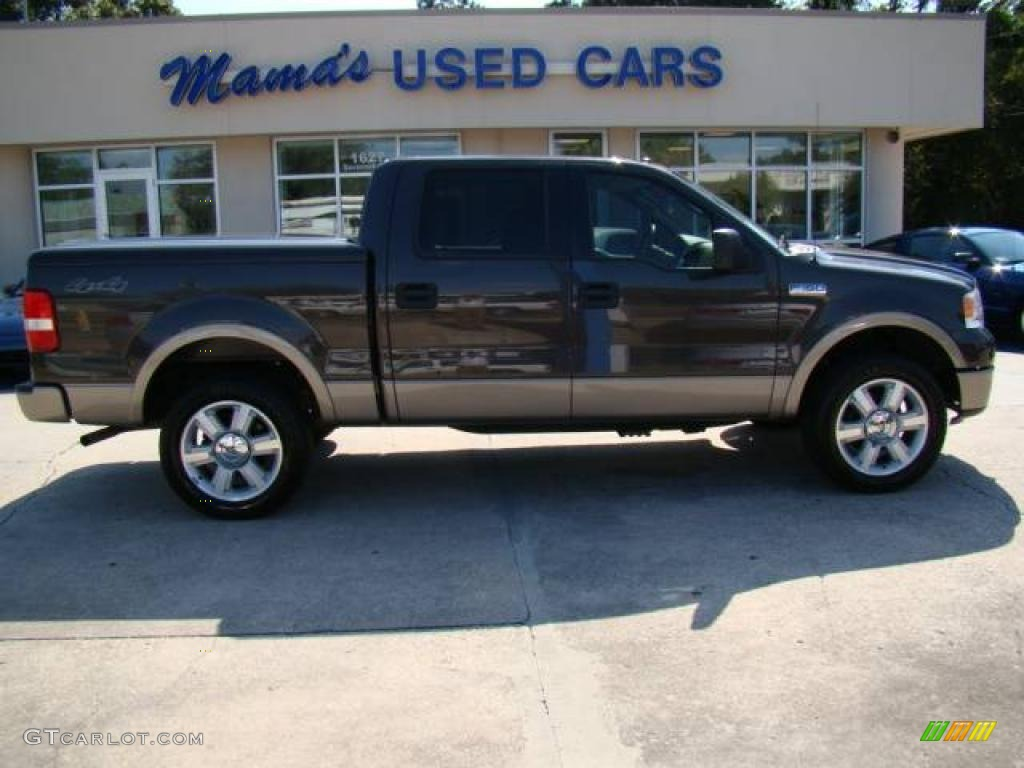 2006 Ford F150 Lariat SuperCrew 4x4 - Dark Stone Metallic Color / Tan
