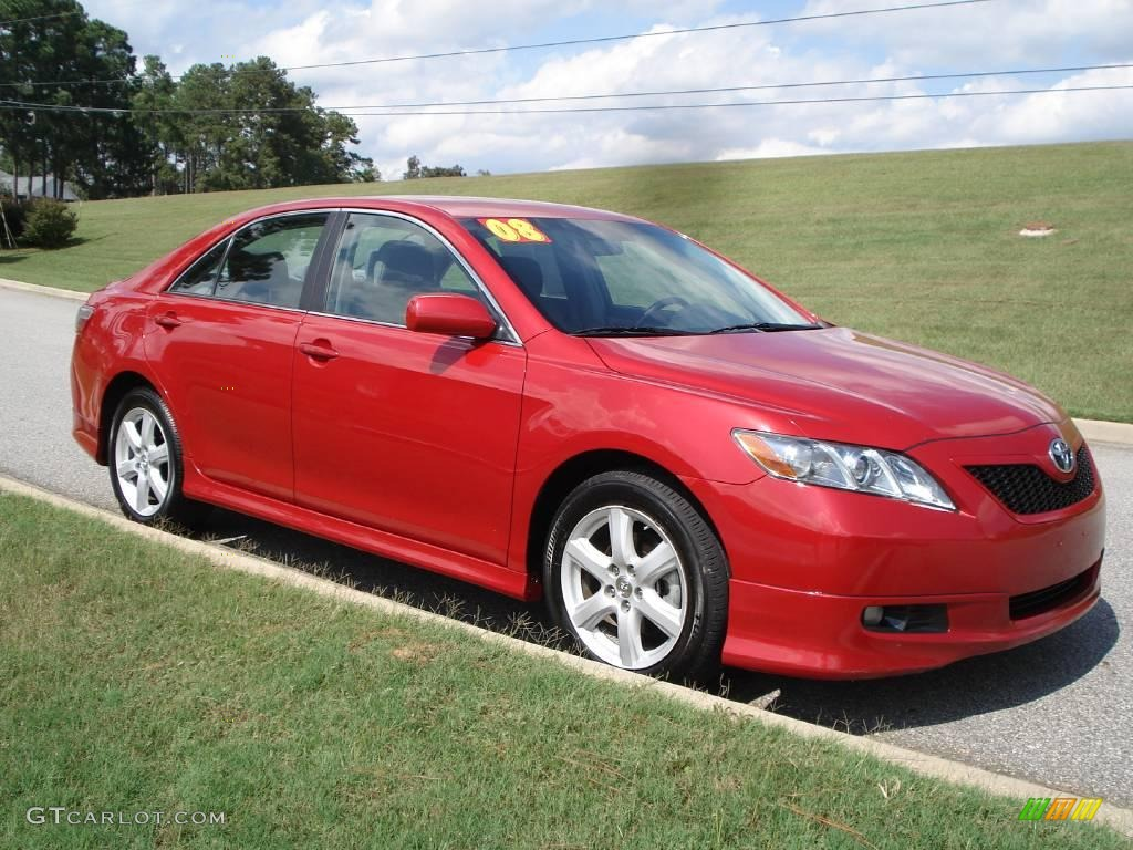 2008 Barcelona Red Metallic Toyota Camry Se 19495277 Gtcarlot Com Car Color Galleries
