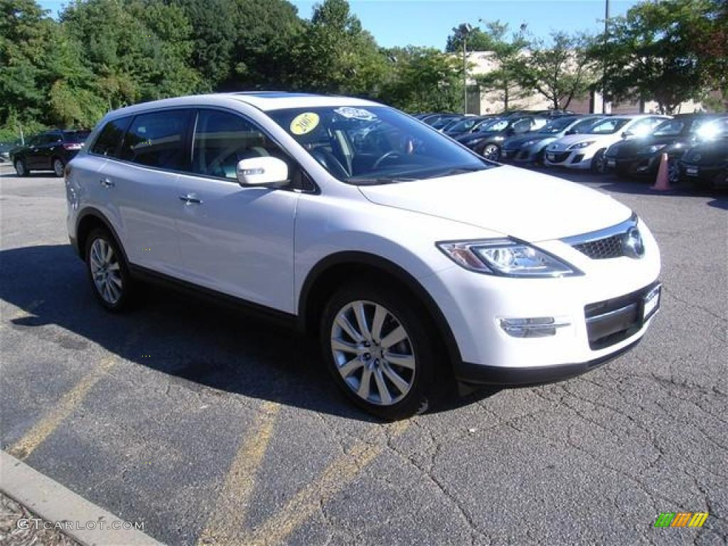2007 crystal white pearl mica mazda cx 9 grand touring awd. Black Bedroom Furniture Sets. Home Design Ideas