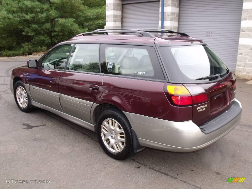 2001 Winestone Red Pearl Subaru Outback L L Bean Edition