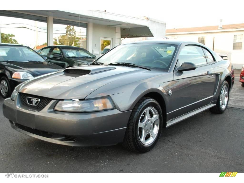 2004 ford mustang v6 coupe dark shadow grey metallic color dark