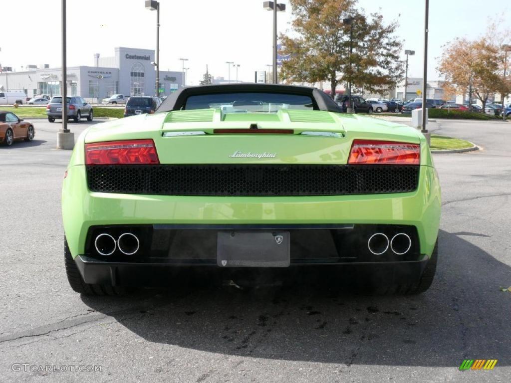 2010 gallardo lp560 4 spyder verde ithaca green nero perseus photo - Lamborghini Gallardo Spyder Green