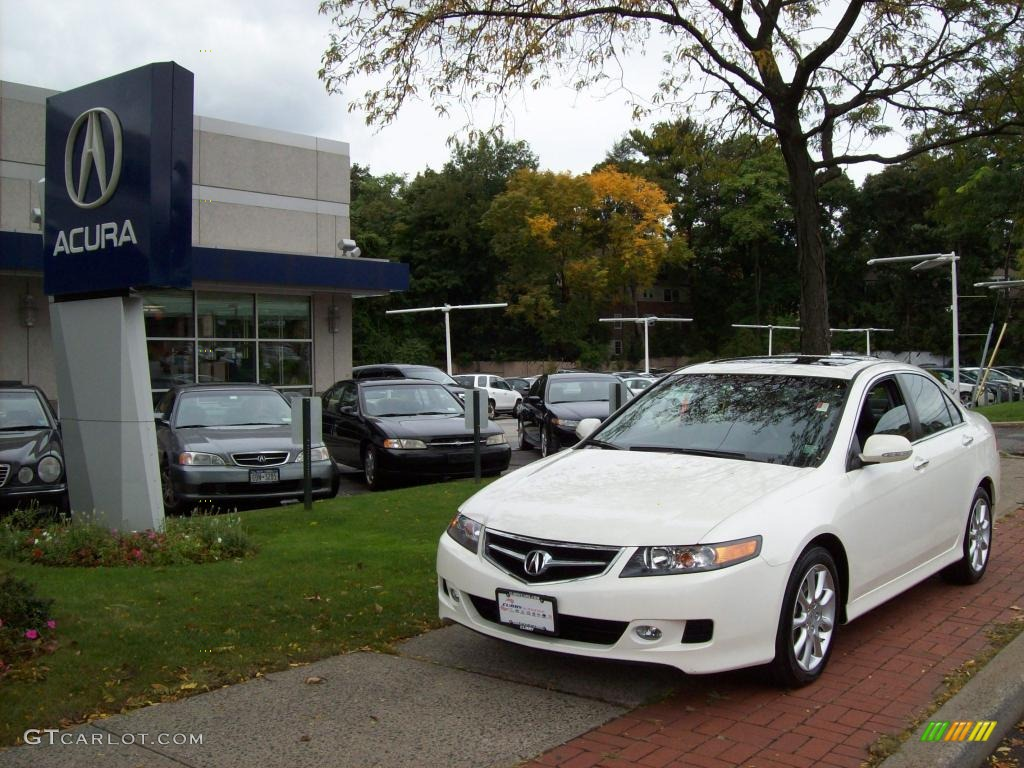 2008 TSX Sedan - Premium White Pearl / Ebony photo #1