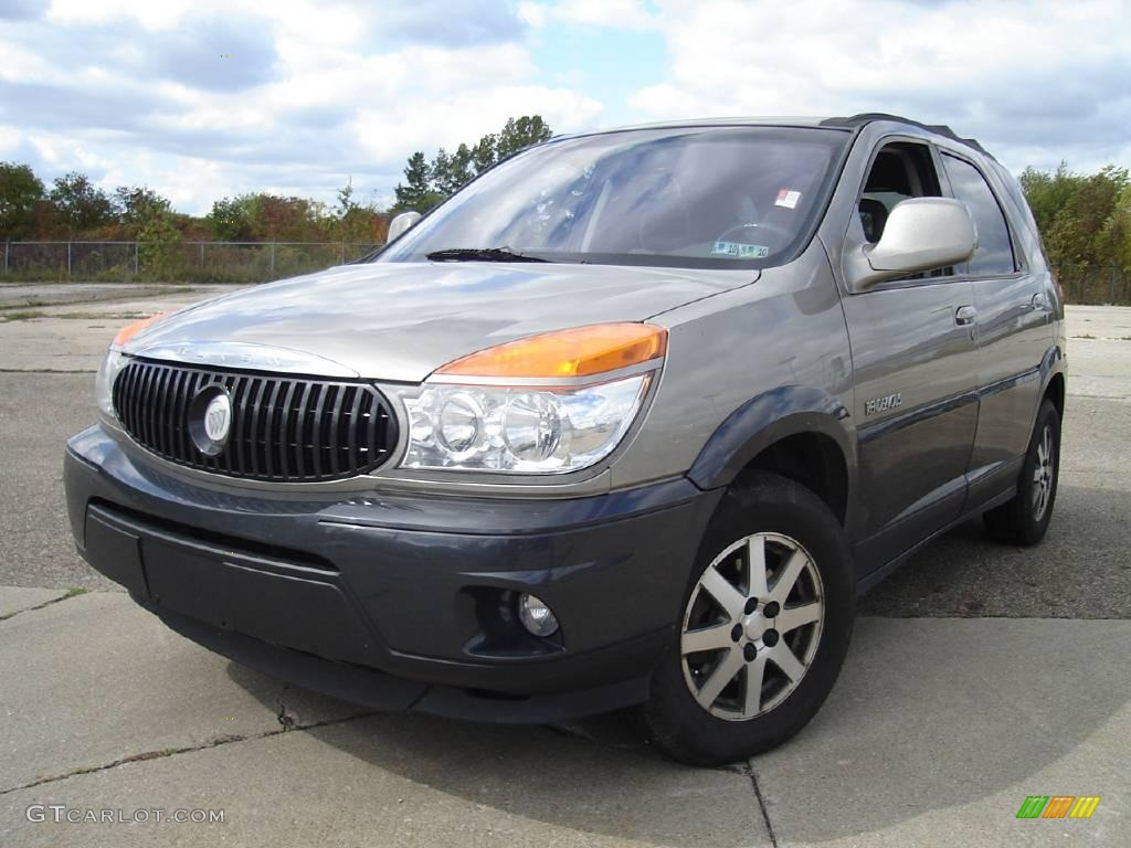 2002 pewter metallic buick rendezvous cxl awd 19697515. Black Bedroom Furniture Sets. Home Design Ideas