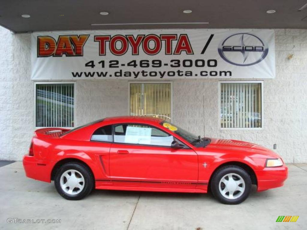 2000 Mustang V6 Coupe - Performance Red / Dark Charcoal photo #1