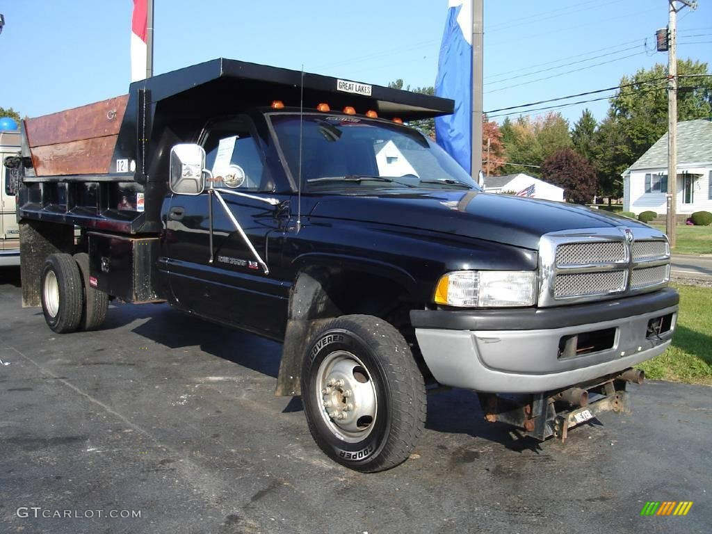 1996 Black Dodge Ram 3500 St Regular Cab Chassis Dump Truck