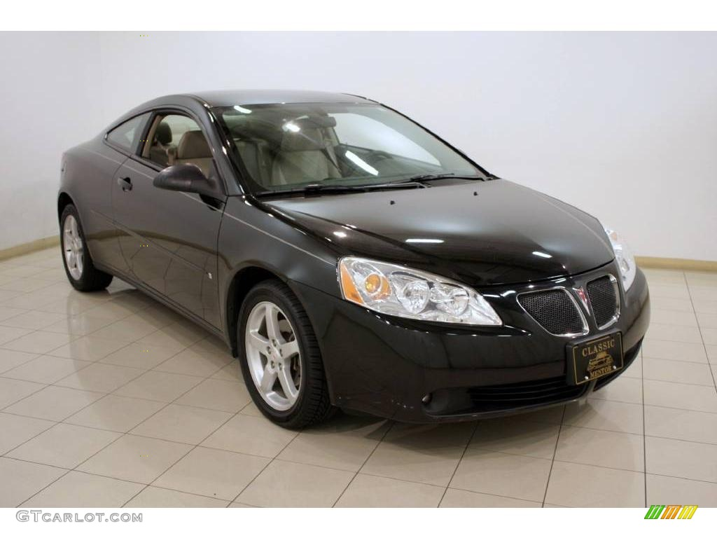 2006 pontiac g6 gt coupe black color light taupe interior 2006 g6. Black Bedroom Furniture Sets. Home Design Ideas