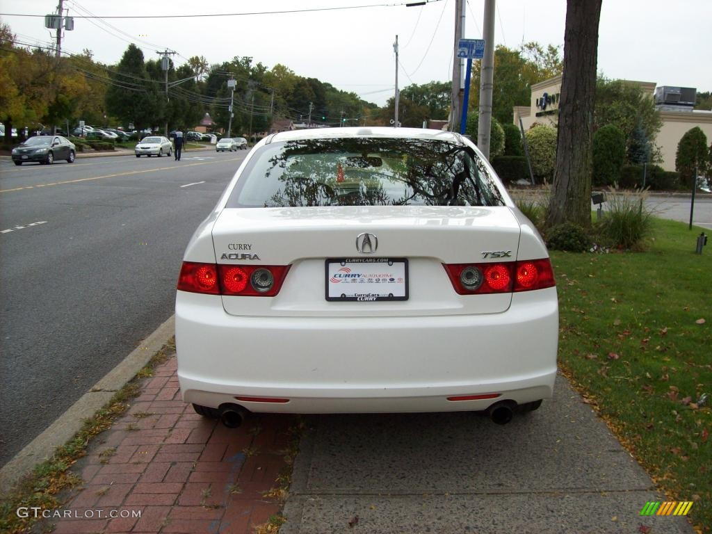 2008 TSX Sedan - Premium White Pearl / Ebony photo #6