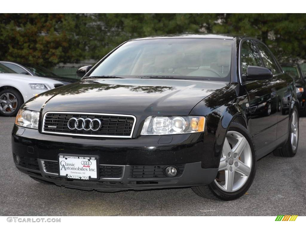 2003 brilliant black audi a4 3 0 quattro sedan 19762872. Black Bedroom Furniture Sets. Home Design Ideas