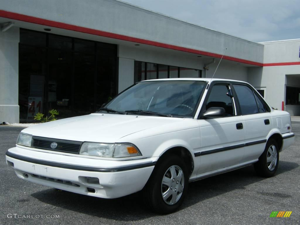 1992 super white toyota corolla dx sedan 19755972. Black Bedroom Furniture Sets. Home Design Ideas