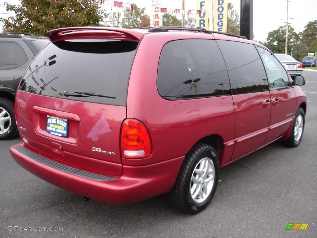 1999 Grand Caravan SE - Inferno Red Pearl / Silver Fern photo #4