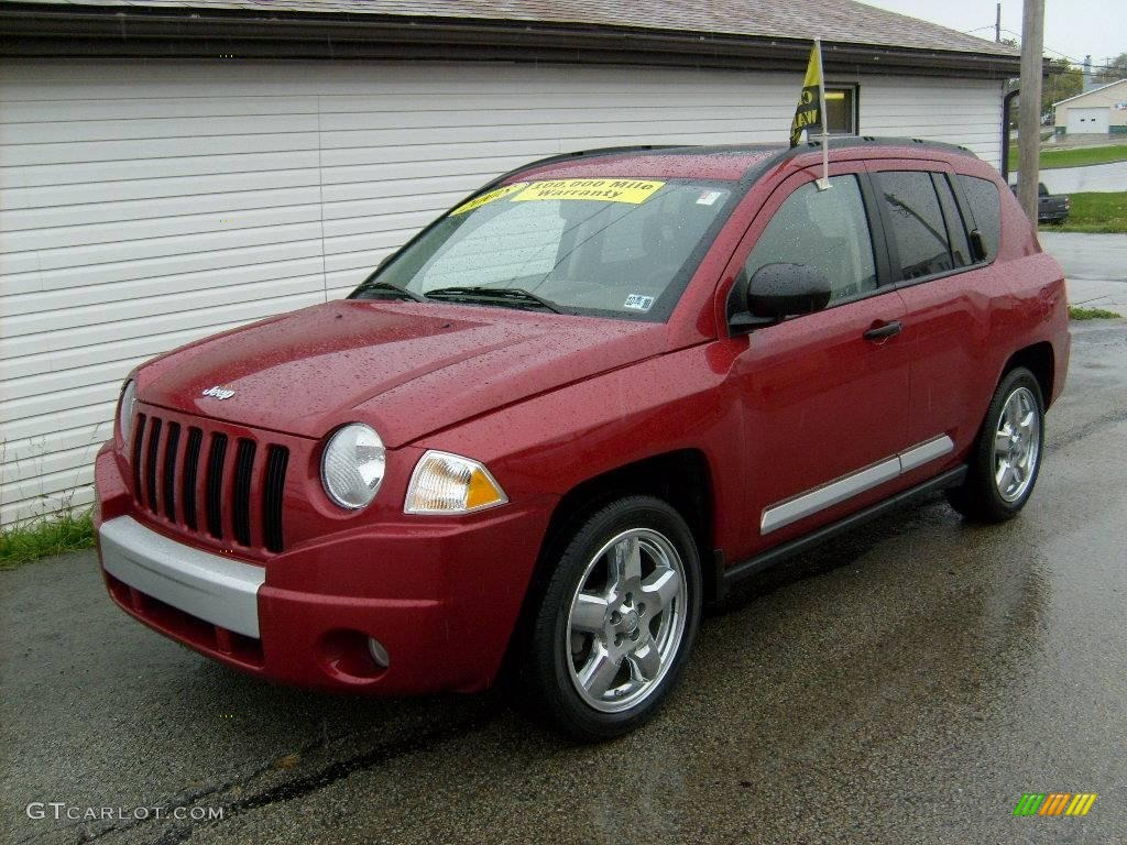 2008 inferno red crystal pearl jeep compass limited 4x4 #19759217
