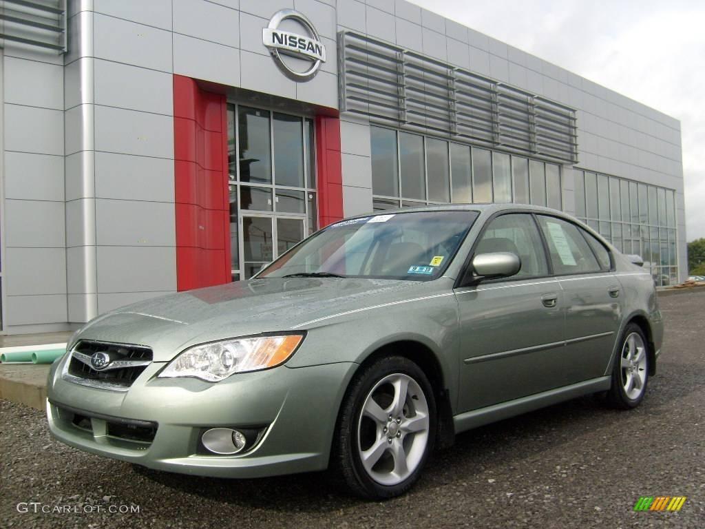 2009 seacrest green metallic subaru legacy 2.5i limited sedan