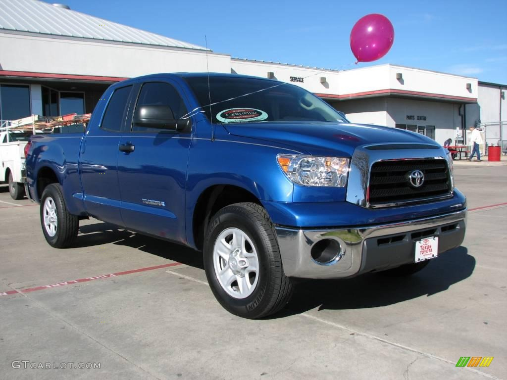 2008 Tundra Double Cab - Blue Streak Metallic / Beige photo #1