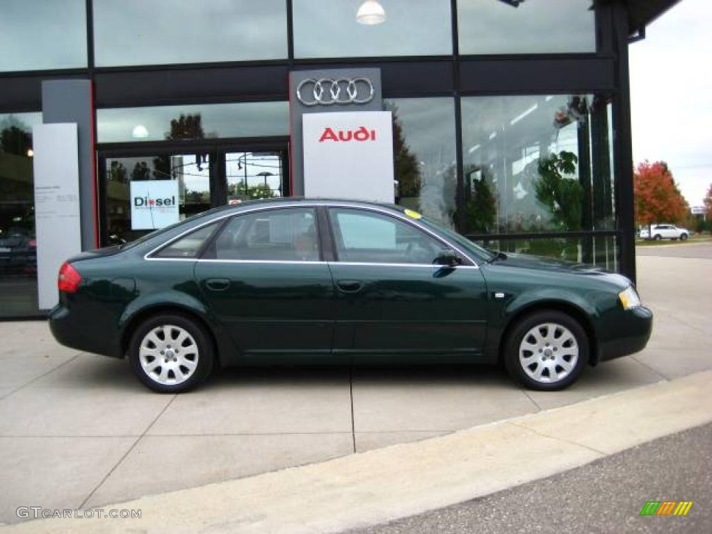 1998 racing green pearl audi a6 2.8 quattro sedan #19826022 photo