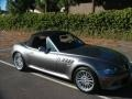 2002 Sterling Gray Metallic BMW Z3 3.0i Roadster  photo #10