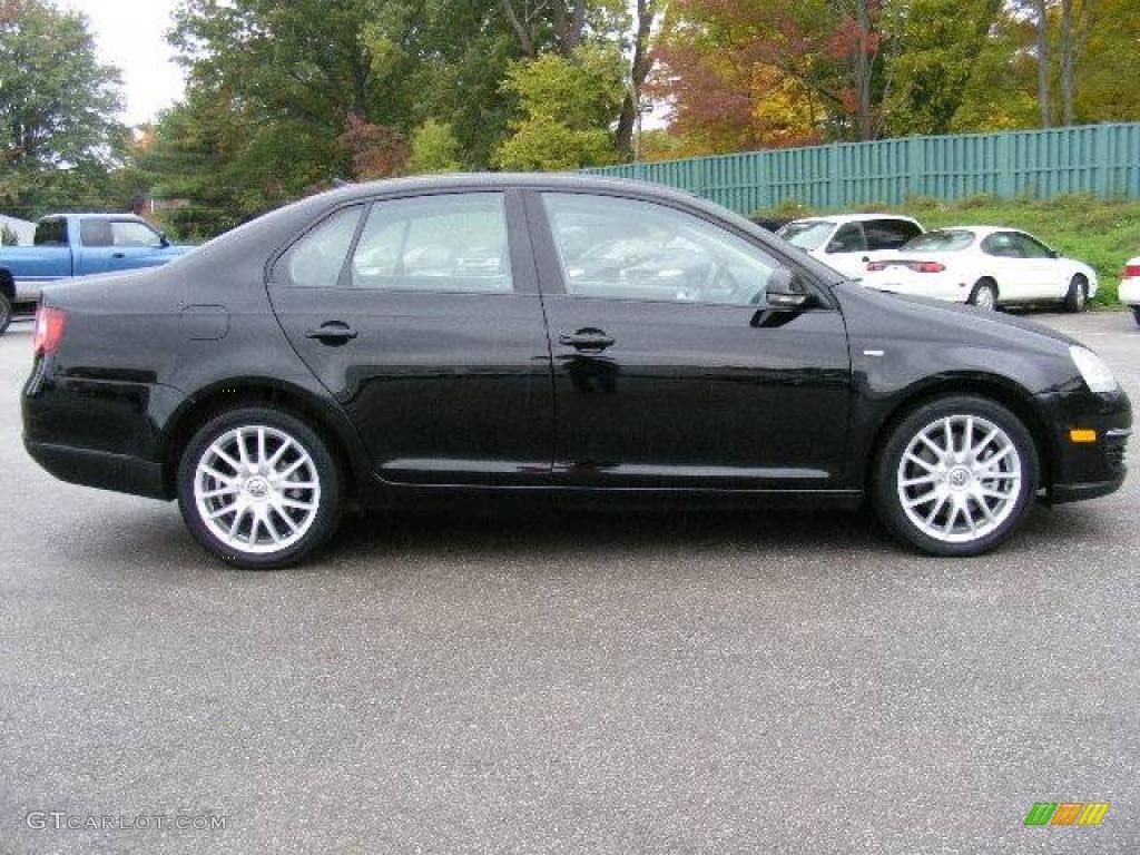 2008 Black Volkswagen Jetta Wolfsburg Edition Sedan