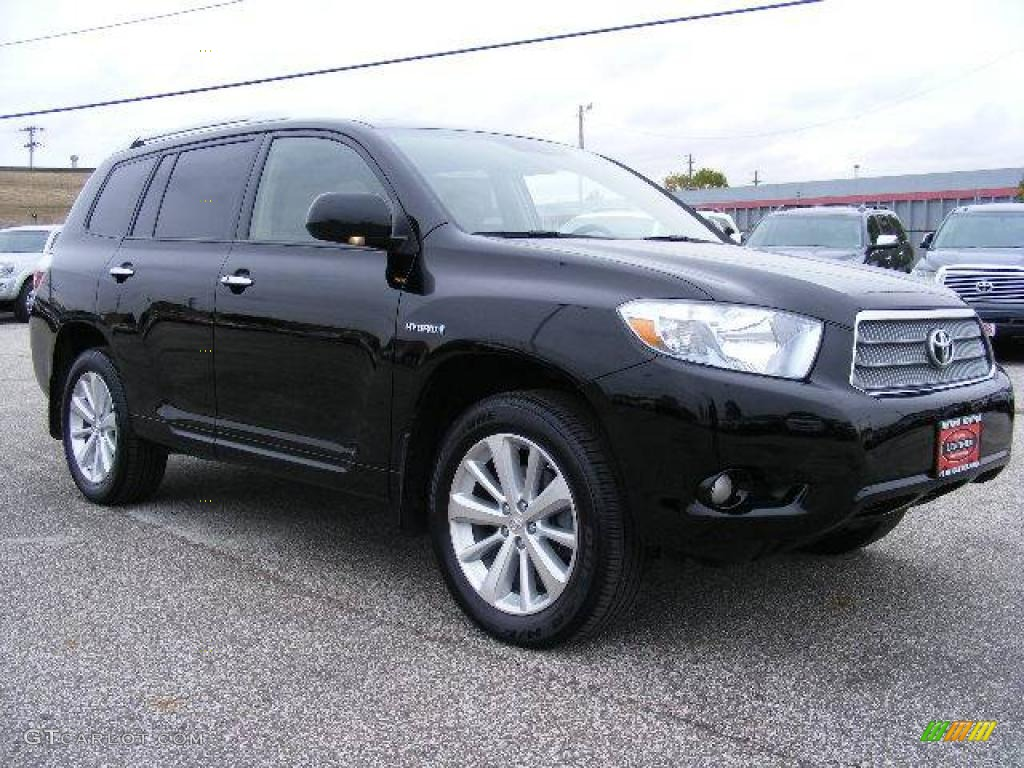 2008 Toyota Highlander Hybrid Limited 4WD - Black Color /