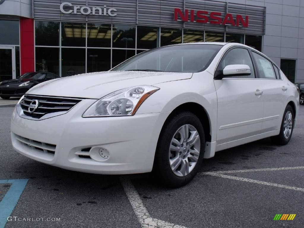2010 Winter Frost White Nissan Altima 2 5 S 19885413 Car Color Galleries
