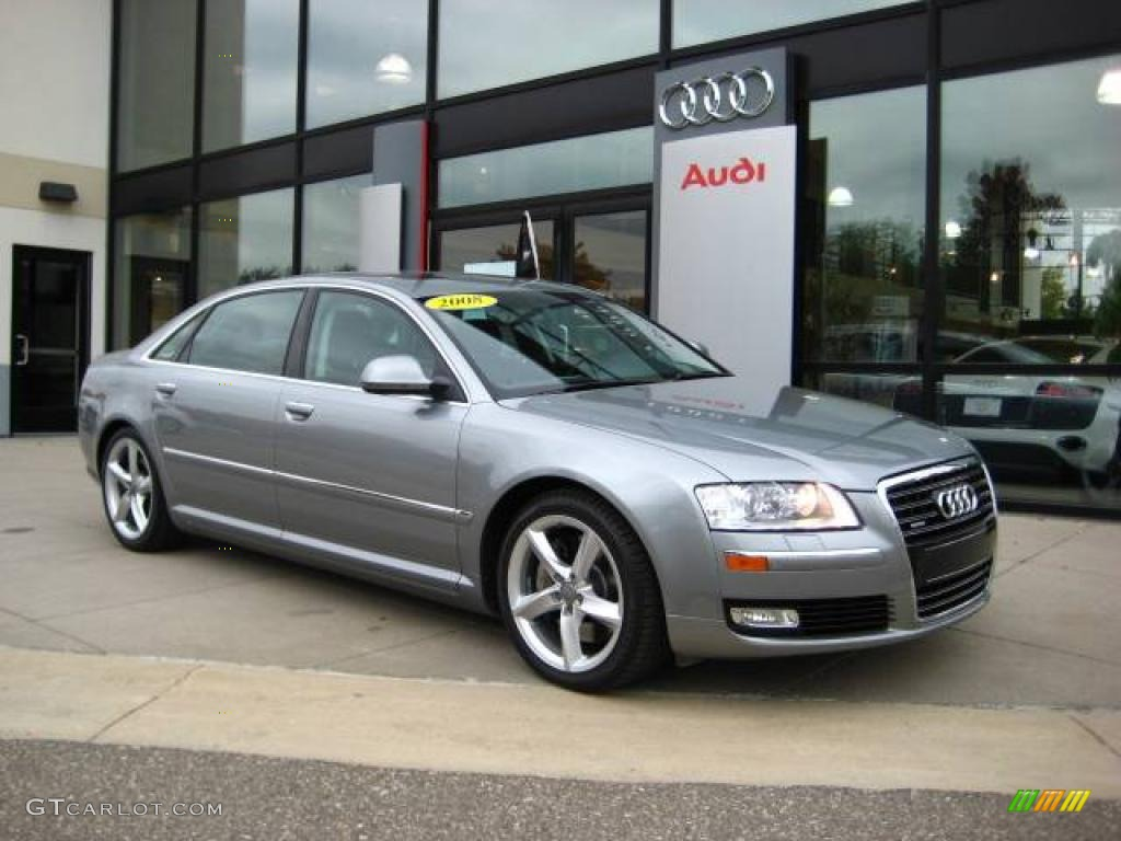 2008 quartz gray metallic audi a8 l 4 2 quattro 19882652 car color galleries. Black Bedroom Furniture Sets. Home Design Ideas