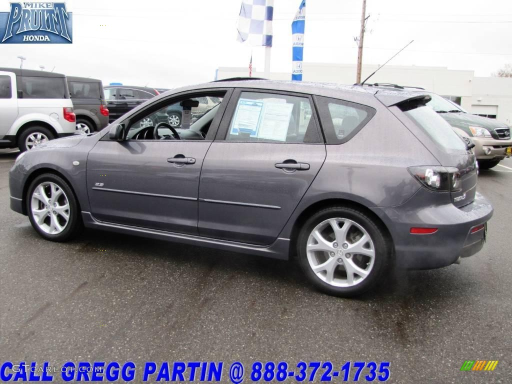 2007 Galaxy Gray Mica Mazda Mazda3 S Grand Touring Hatchback
