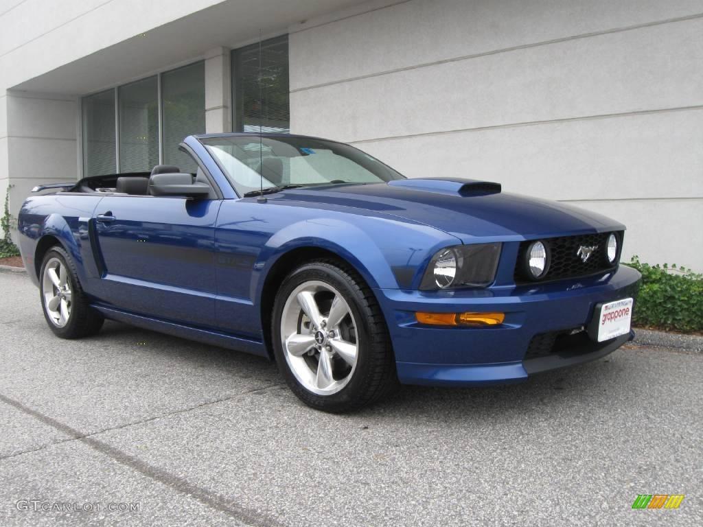 2007 Mustang GT/CS California Special Convertible - Vista Blue Metallic / Black/Dove Accent photo #1