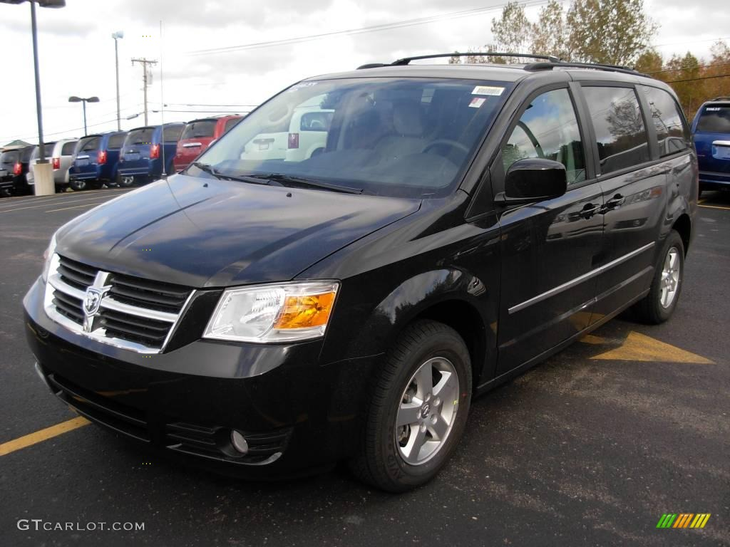 Brilliant black crystal pearl dodge grand caravan dodge grand caravan sxt