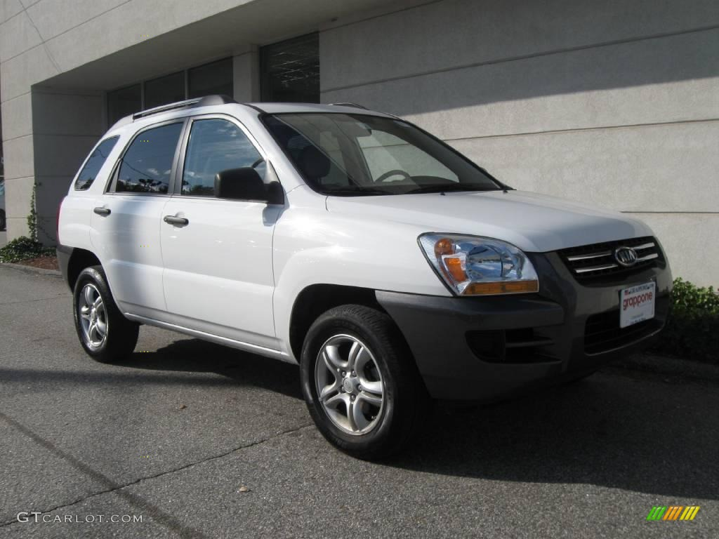 2008 clear white kia sportage lx v6 4x4 19949389 car color galleries. Black Bedroom Furniture Sets. Home Design Ideas