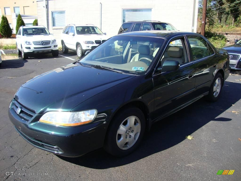 2001 Dark Emerald Pearl Honda Accord EX V6 Sedan #20011607
