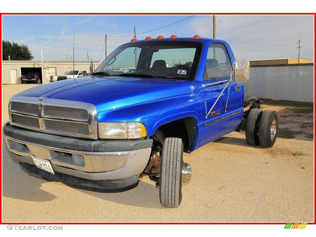1999 intense blue pearl dodge ram 3500 laramie regular cab. Black Bedroom Furniture Sets. Home Design Ideas