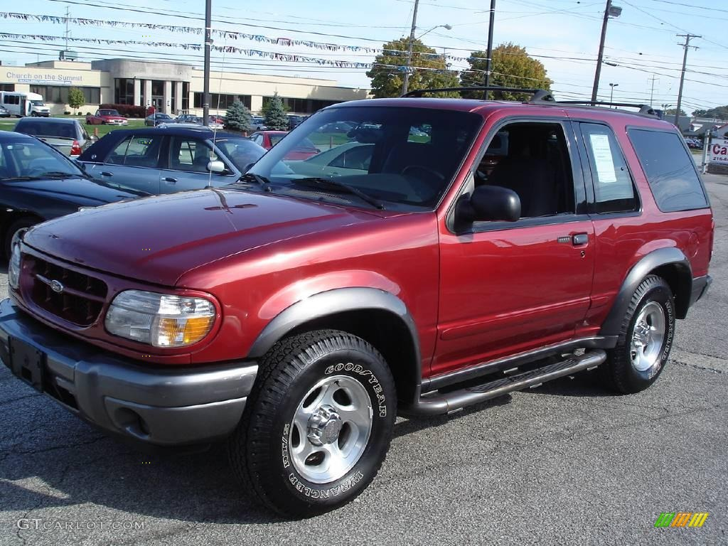 2000 ford explorer sport 4x4 toreador red metallic color dark. Cars Review. Best American Auto & Cars Review