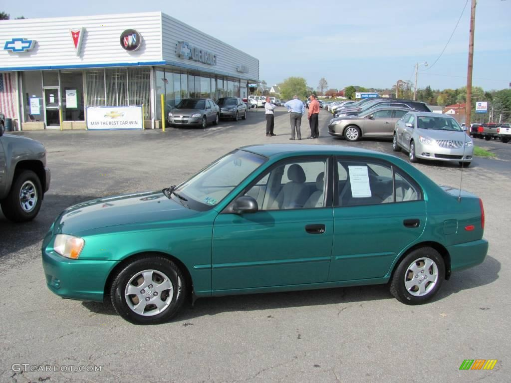 2001 Jade Green Hyundai Accent GL Sedan 20079617